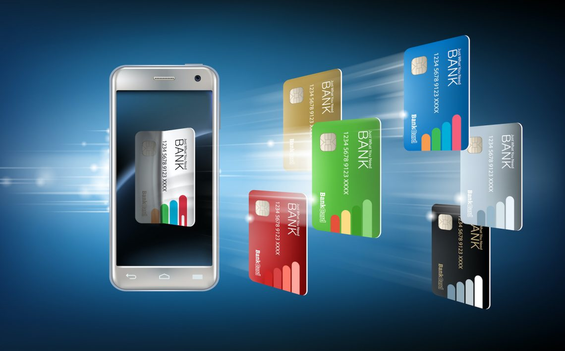 illustration of credit card and smartphone — bank transfers
